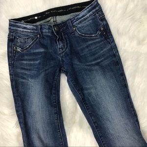 Express Jeans - ReRock For Express Size 0 Short Bootcut Jeans